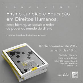 Lançamento - Ensino Jurídico e Educação em Direitos Humanos - 07 de Novembro, 17h30