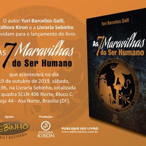 Lançamento - As 7 Maravilhas do Ser Humano - 19 de Outubro, 19h