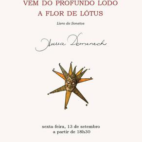 """Lançamento do Livro - """"Vem do Profundo Lodo a Flor de Lótus"""" - 13 de Setembro, 18h30"""