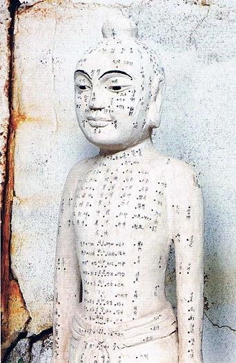 Statue points d'acupuncture