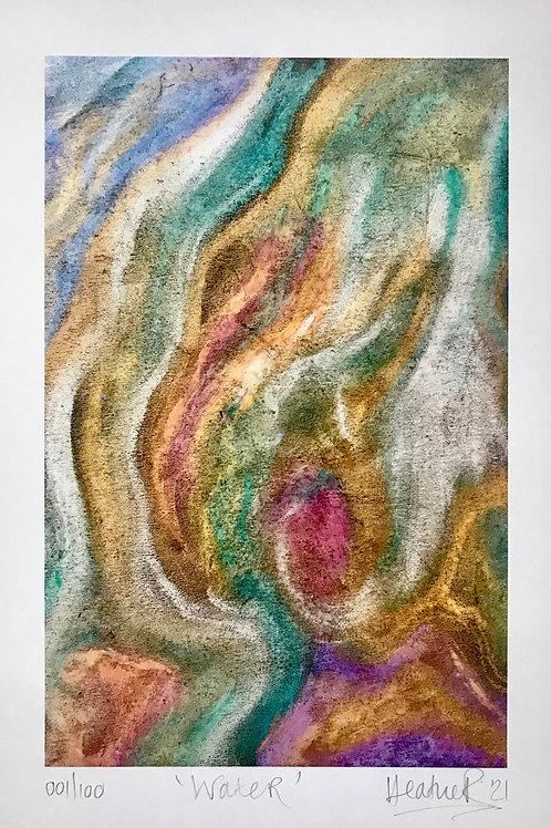'Water' Ltd Ed Artwork Print ~ 'Elements' Collection