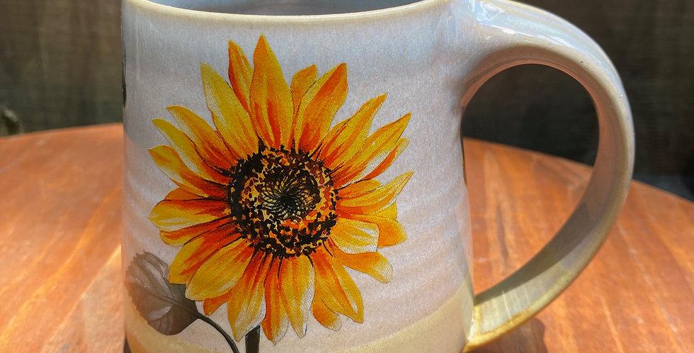 Sunflower and Bee Mug 010