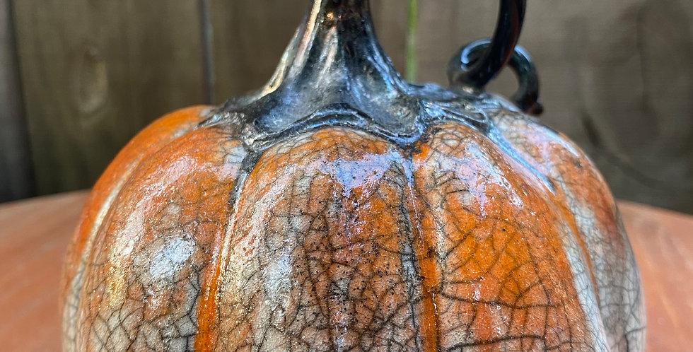 Raku Pumpkin 026