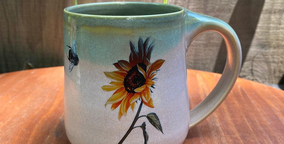 Sunflower and Bee Mug 03