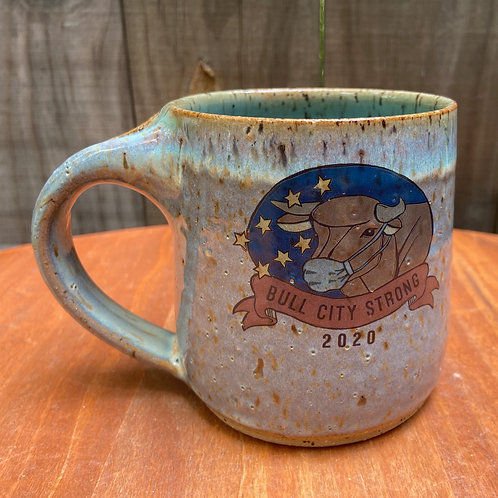 Bull City Strong Mug With Mask 014