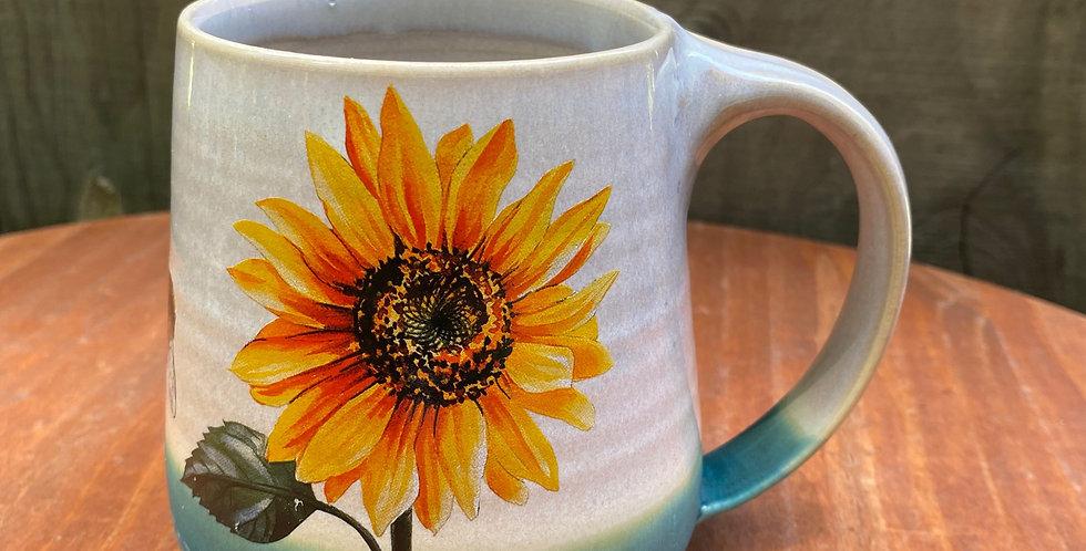 Sunflower and Bee Mug 018
