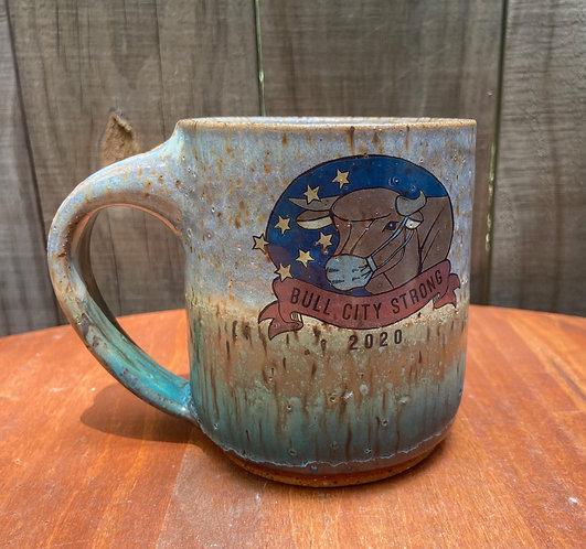 Bull City Strong Mug With Mask 015