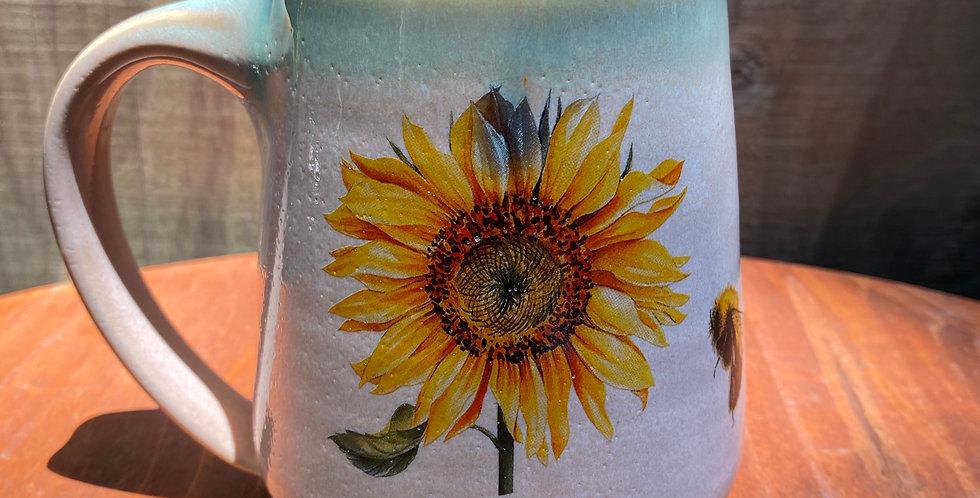 Sunflower and Bee Mug 02