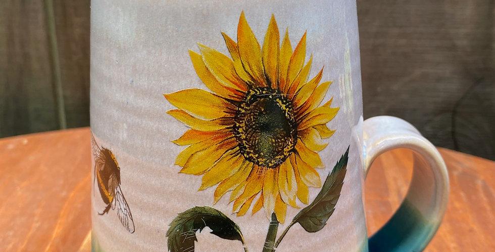 Sunflower and Bee Mug 026