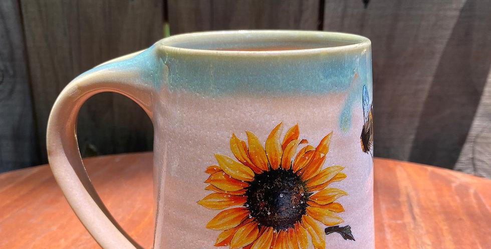 Sunflower and Bee Mug 05