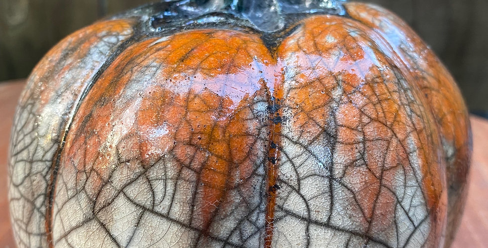 Raku Pumpkin 027