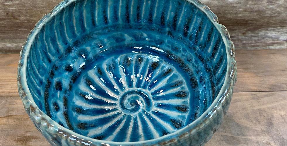 Turquoise Tree Bark Bowl 01