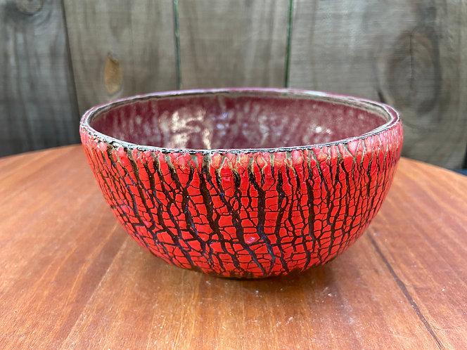 Tree Bark Bowl Red 06