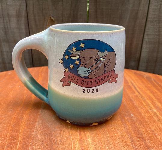 Bull City Strong Mug With Mask 04
