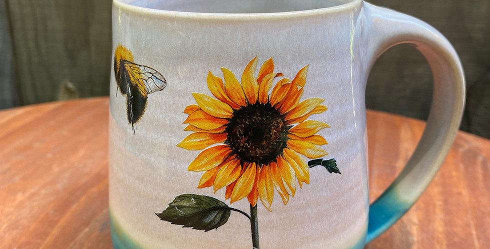 Sunflower and Bee Mug 017