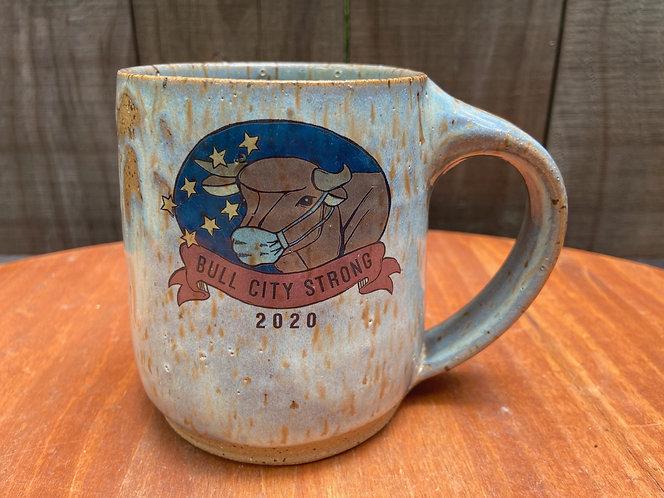 Bull City Strong Mug With Mask 013