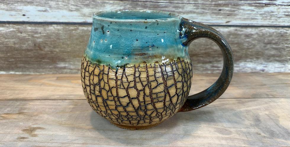 Turquoise Tree Bark Mug 03