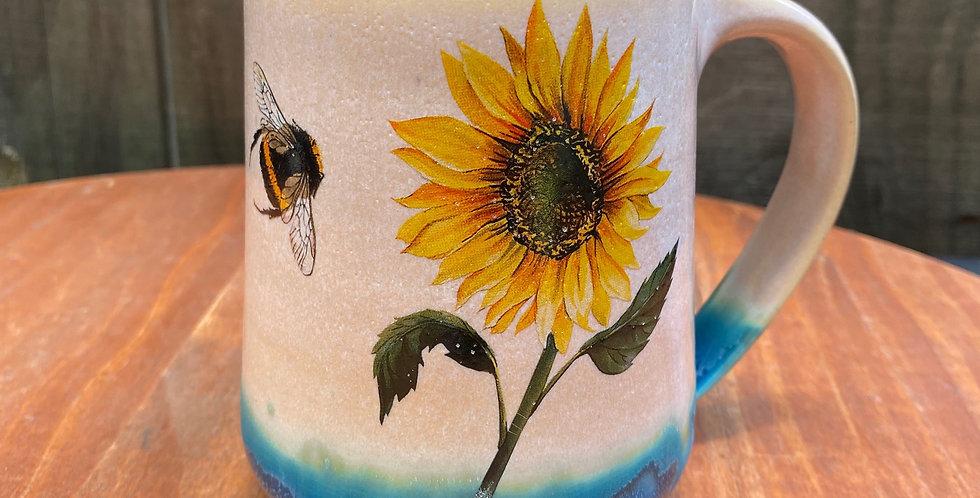 Sunflower and Bee Mug 025