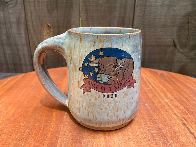 Bull City Strong Mug With Mask 016
