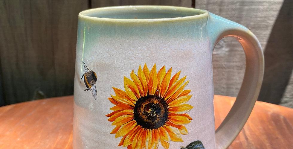 Sunflower and Bee Mug 04