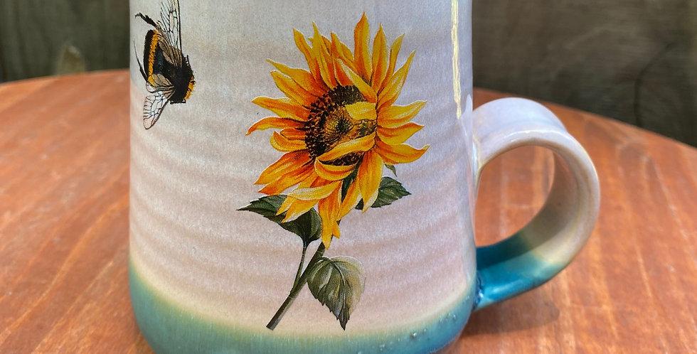 Sunflower and Bee Mug 019