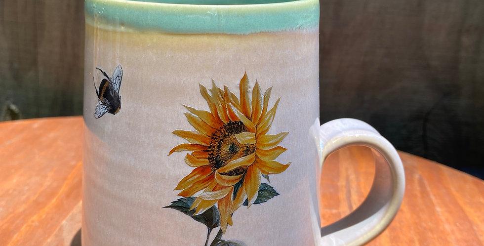 Sunflower and Bee Mug 07