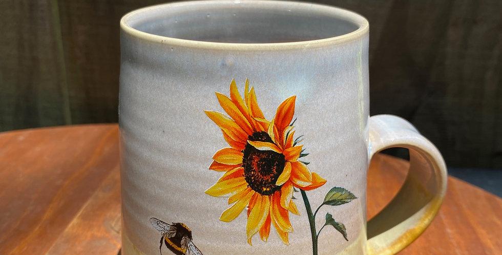 Sunflower and Bee Mug 012