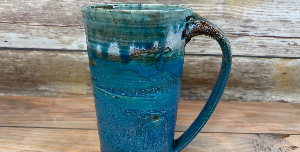 Blue Tall mug 04