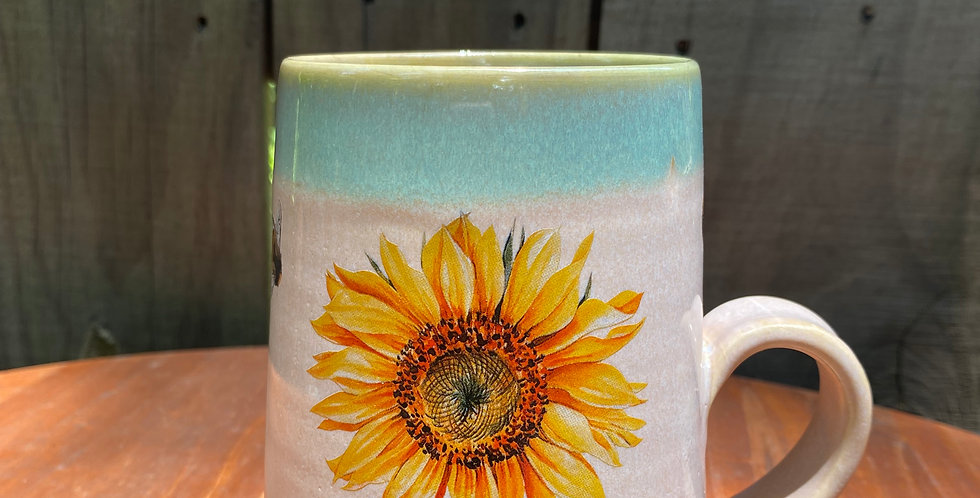 Sunflower and Bee Mug 06