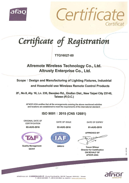 Allremote ISO9001 version 2015