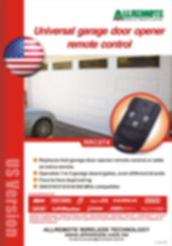 North America Garage Door Remote