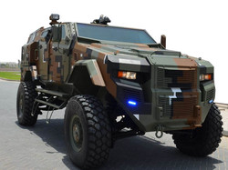 Model 970 on armored vehicle