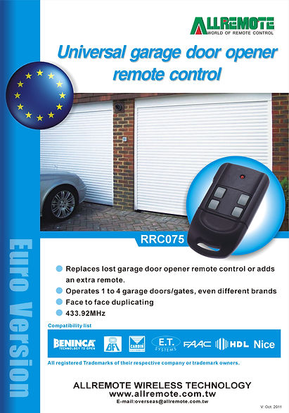 Europe Garage Door Remote