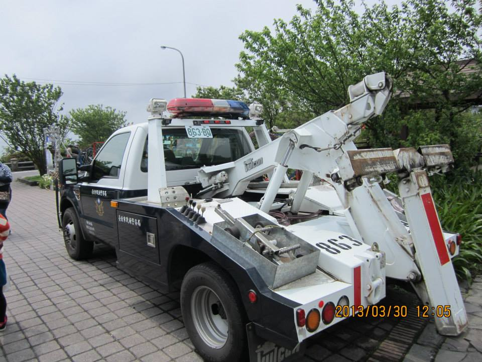 Halogen Lamp Model 950 on Tow truck