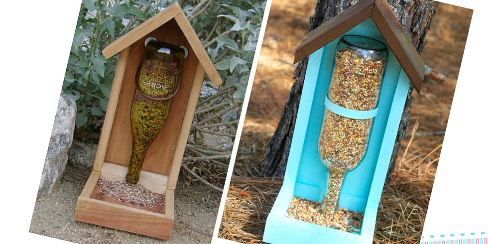 Make a Bird Feeder from reclaimed timber and empty bottles