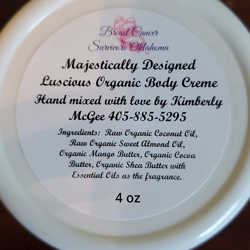 Breast Cancer Survivors Oklahoma Organic Body Butter 4oz