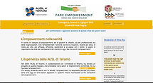 home del sito fare empowerment verso una sanità migliore