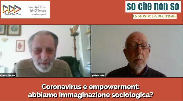 Coronavirus e empowerment - abbiamo immaginazione sociologica?