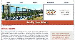 home del sito dello spin-off universitario Really New Minds