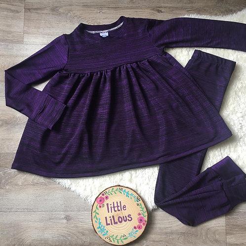 Purple knit lounge set