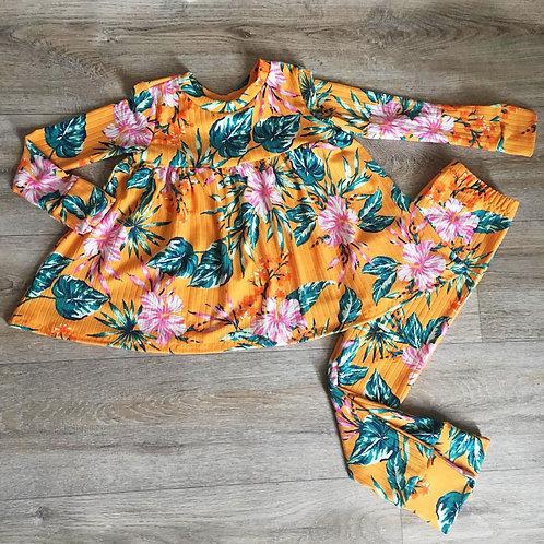 Orange floral lounge set