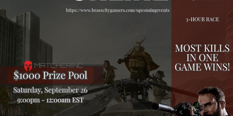 COD Warzone Online Tournament: 3-Hour Race