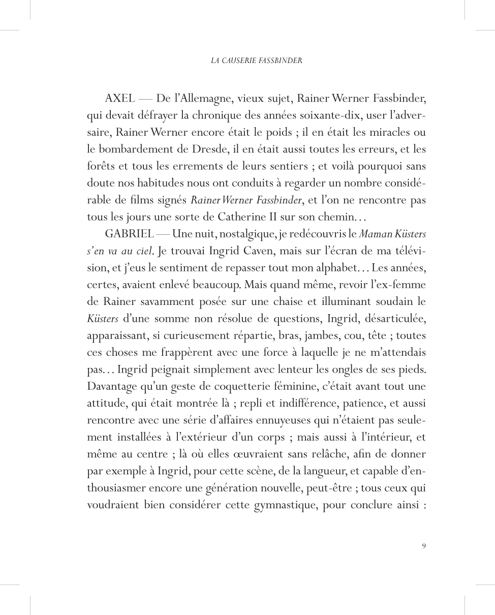 La causerie Fassbinder - page 9