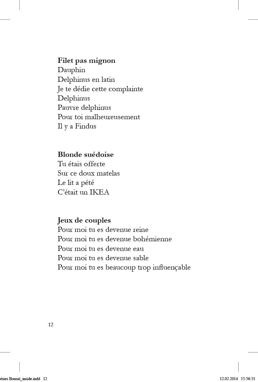 Poésies Bonsaï - page 12