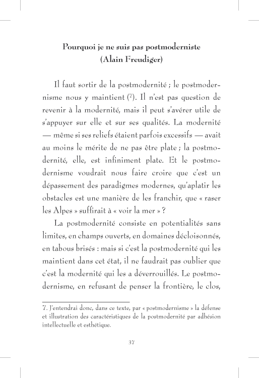 Plus ou moins postmoderne - page 37