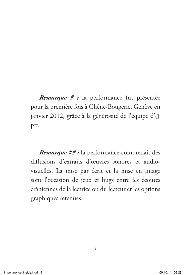 Im-pertinences du son - page 9