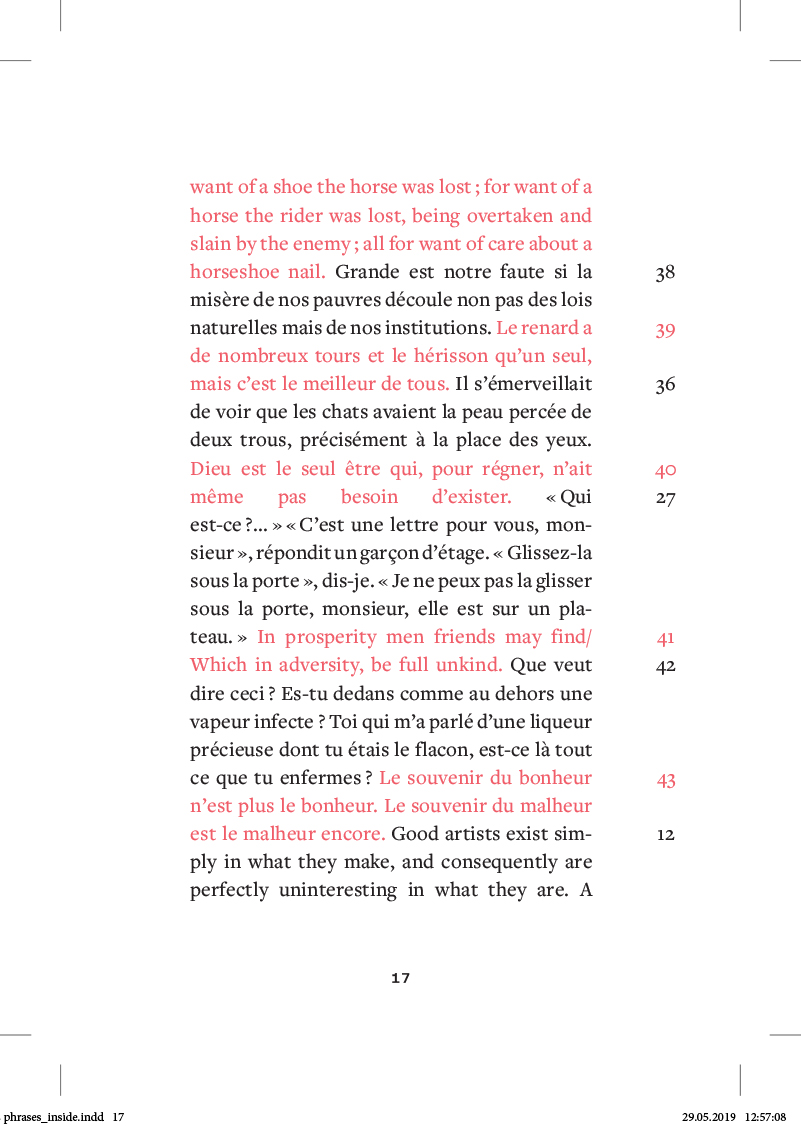 les phrases - page 17