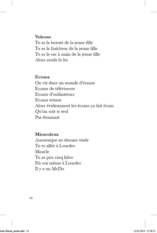 Poésies Bonsaï - page 14