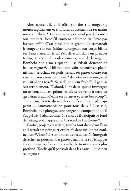 La Batrachomyomachie - page 20