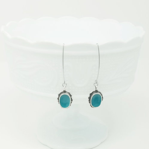 Around the Oval Ice Resin Earrings